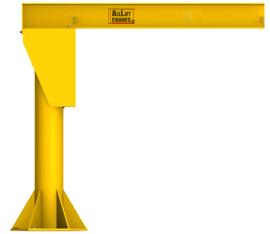 ½ Ton Capacity Heavy Duty Floor Mounted JIB Crane
